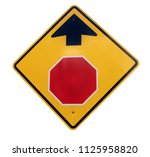 stop ahead road sign. isolated.   Shutterstock . vector #1125958820