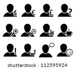 office and people icon set.... | Shutterstock .eps vector #112595924