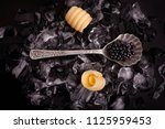 black caviar with margarine | Shutterstock . vector #1125959453