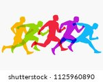 abstract colorful silhouette... | Shutterstock .eps vector #1125960890