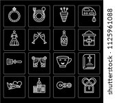 set of 16 icons such as do not...