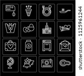 set of 16 icons such as steak ...