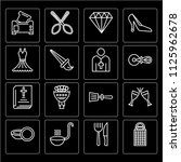 set of 16 icons such as grater  ... | Shutterstock .eps vector #1125962678