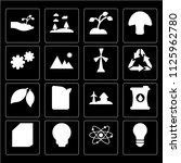 set of 16 icons such as light...