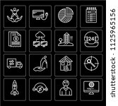 set of 16 icons such as website ... | Shutterstock .eps vector #1125965156