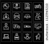 set of 16 icons such as wounded ... | Shutterstock .eps vector #1125965210