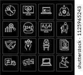 set of 16 icons such as... | Shutterstock .eps vector #1125965243