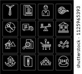 set of 16 icons such as call... | Shutterstock .eps vector #1125965393