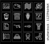 set of 16 icons such as bone ...