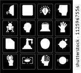 set of 16 icons such as virtual ...