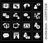 set of 16 icons such as chief ...