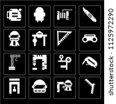 set of 16 icons such as safety...