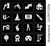 set of 16 icons such as cutter  ...