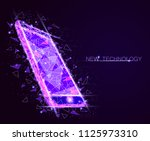 low poly smartphone mobile... | Shutterstock .eps vector #1125973310
