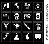 set of 16 icons such as glove ...