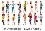 multinational people set vector.... | Shutterstock .eps vector #1125973850