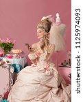color portrait of eighteenth... | Shutterstock . vector #1125974093