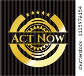 act now gold badge | Shutterstock .eps vector #1125976154