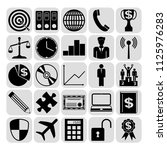 set of 25 business high quality ... | Shutterstock .eps vector #1125976283