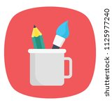 a holder cup  flat vector icon...   Shutterstock .eps vector #1125977240