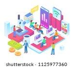 modern isometric online science ... | Shutterstock .eps vector #1125977360