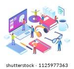 modern isometric smart smart...   Shutterstock .eps vector #1125977363