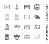reminder icon. collection of 16 ... | Shutterstock .eps vector #1125977654