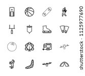 recreation icon. collection of... | Shutterstock .eps vector #1125977690