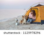 happy weekend by the sea  ... | Shutterstock . vector #1125978296
