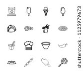 cuisine icon. collection of 16...   Shutterstock .eps vector #1125979673