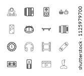 entertainment icon. collection... | Shutterstock .eps vector #1125979700