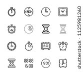 minute icon. collection of 16... | Shutterstock .eps vector #1125981260