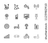 wireless icon. collection of 16 ...   Shutterstock .eps vector #1125982910