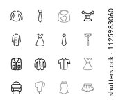 apparel icon. collection of 16... | Shutterstock .eps vector #1125983060