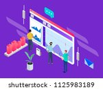 people build a dashboard and... | Shutterstock .eps vector #1125983189