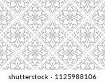 floral pattern. vintage... | Shutterstock . vector #1125988106
