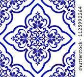 porcelain wallpaper in baroque... | Shutterstock .eps vector #1125992264