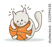 cute cat playing kawaii...   Shutterstock .eps vector #1125994130