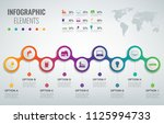 abstract 3d infographic... | Shutterstock .eps vector #1125994733