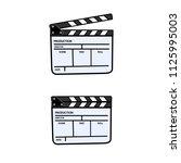 film clapper board icon on... | Shutterstock .eps vector #1125995003