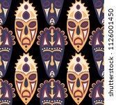 seamless background. ethnic... | Shutterstock .eps vector #1126001450