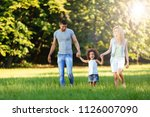 happy young couple spending... | Shutterstock . vector #1126007090