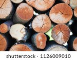 firewood prepared for fireplace ... | Shutterstock . vector #1126009010