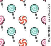 lollipop seamless pattern  flat ... | Shutterstock .eps vector #1126011008
