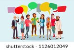 people group chat vector.... | Shutterstock .eps vector #1126012049