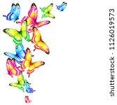 beautiful color butterflies set ... | Shutterstock .eps vector #1126019573