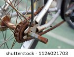 close up bicycle part with old... | Shutterstock . vector #1126021703
