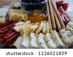 mixed meat and cheese cold... | Shutterstock . vector #1126021859