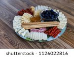 mixed meat and cheese cold... | Shutterstock . vector #1126022816