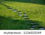 stepping stones walking path...   Shutterstock . vector #1126025249